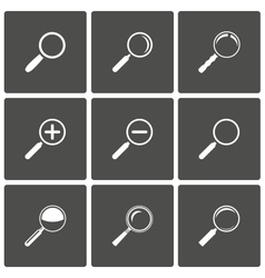 Magnifier and Zoom Icons vector image