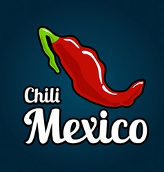 Map of the country of mexico as chili peppers vector