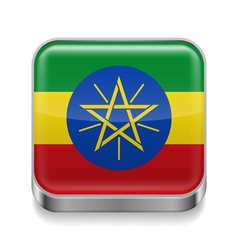 Metal icon of ethiopia vector