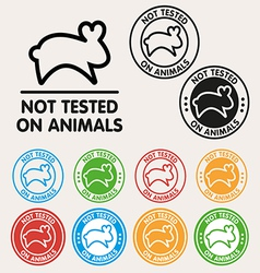 No animals testing sign icon vector image vector image
