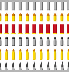 pattern of different caliber bullets ammunition vector image vector image
