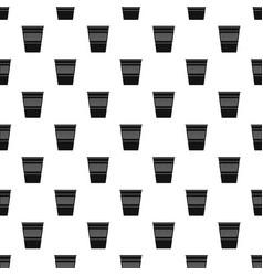 Plastic office waste bin pattern vector