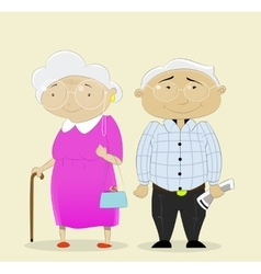 Romantic couple grandparents vector