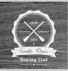 rowing club vintage logo emblem vector image