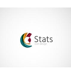 Statistics company logo design vector