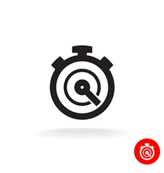 Stopwatch timer simple black icon Timer logo vector image