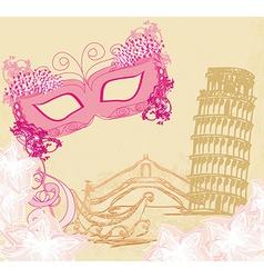 symbols italians - the carnival mask Venice vector image