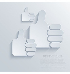 thumb up icon background Eps10 vector image