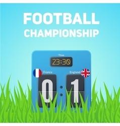Uefa euro 2016 background vector