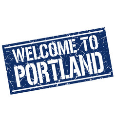 Welcome to portland stamp vector
