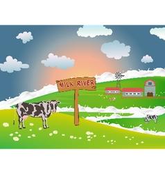 Dairy cows vector image