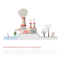 Ecological problems environmental pollution vector