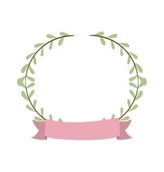 Border with leaves and label vector