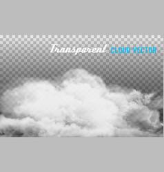 smoke on transparent background vector image