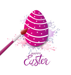 Colorful easter egg painted with bush vector