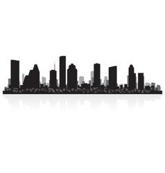 Houston USA city skyline silhouette vector image