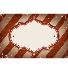 Vintage circus inspired frame vector image