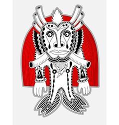 Ornate doodle fantasy monster personage vector