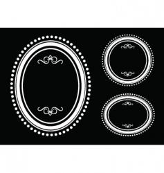 dot outline vector image