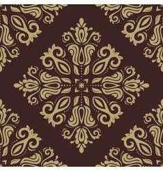 Damask seamless pattern abstract background vector