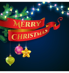 ribbon christmas garland vector image