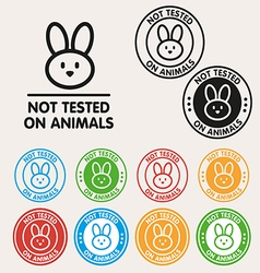 No animals testing sign icon vector