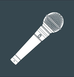 Solid color stage microphone device vector