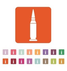 The bullet icon weapon symbol flat vector