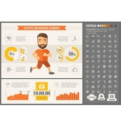 Sports flat design infographic template vector