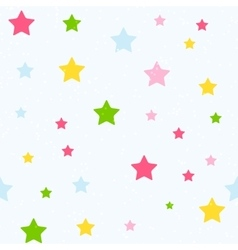 Cute Star Seamless Pattern Background vector image