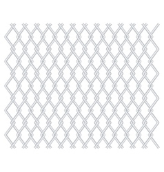 Grid grille background with rhomboids vector