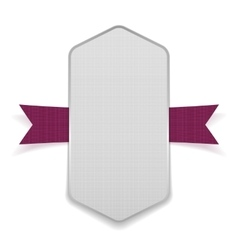 White big banner on purple ribbon vector