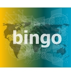 Bingo word on business digital touch screen vector