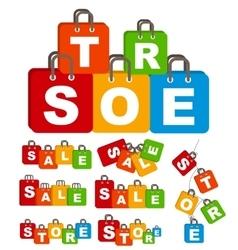 Sale Bag Concept of Discount Set vector image