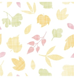 Abstract textile texture fall leaves seamless vector