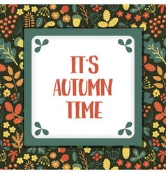 autumn time vector image vector image