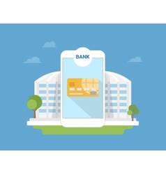 Bank mobile application vector image vector image