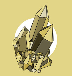 Beige and brown crystals on a beige background eps vector