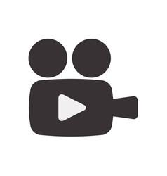 Black camcorder symbol icon design vector