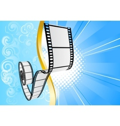 blue background with film vector image vector image
