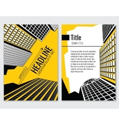 Business brochure template for vector image
