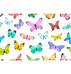 colored seamless pattern butterfly vector image vector image