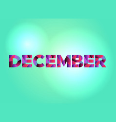 December concept colorful word art vector