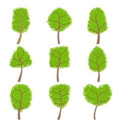 Decorative Trees Set vector image