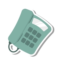 Digital telephone isolated icon vector