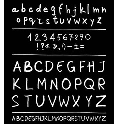 English handwriting alphabet vector