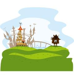 Fairytale city vector