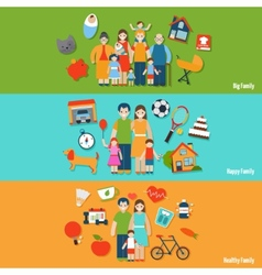 Family Banner Set vector image vector image