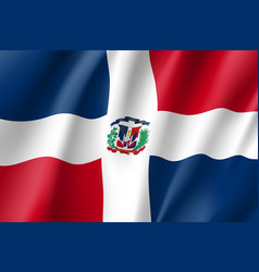 Flag dominican realistic icon vector