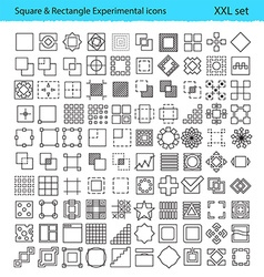 geometric icons for UXUI tools and mobile vector image